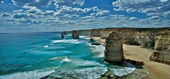 route grande douze d'océan de Melbourne d'apôtres images libres de droits