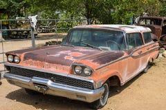 Route 66, Hackberry, automobile del veterano fotografie stock libere da diritti