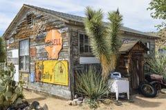 Route 66, Hackberry, AZ, alter Gemischtwarenladen Lizenzfreie Stockfotos