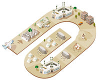 Route of Hajj stock illustration