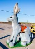 Route 66: Hier ist es Jack Rabbit, Joseph City, AZ Stockbild