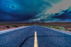 Route 163, Highway at Monument valley Stock Photos