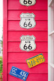 Route 66 highway signs Royalty Free Stock Photography