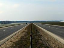 Route higway droite pendant l'hiver image stock