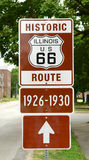 Route 66 histórico firma adentro Illinois Fotos de archivo libres de regalías