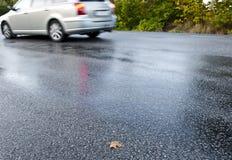 Route humide Images libres de droits
