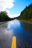 Route humide Photographie stock libre de droits