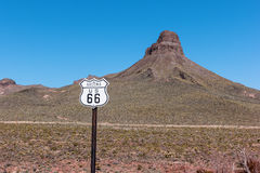 Route 66 i Arizona Arkivbilder