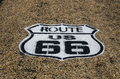 Route 66 i USA-huvudvägsköld Royaltyfri Bild