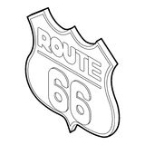 Route 66 icon, isometric 3d style Stock Image