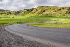 Route 1 in IJsland stock foto's