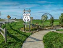Route 66 in Illinois die - mijn schoppen krijgen Stock Afbeelding