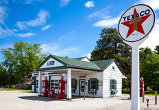 Route 66. Illinois, Route 66, Dwight, the old Texaco gas station Stock Images