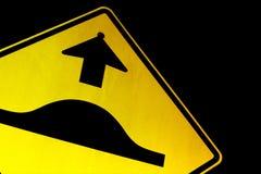 Route inégale en avant Photo stock