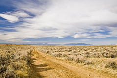 Route isolée de désert Photos stock