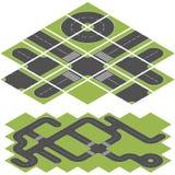 Route isométrique illustration stock