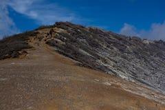 Route jusqu'au dessus de la montagne Photo stock