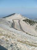 Route jusqu'aux Alpes de Français de montagne Images libres de droits
