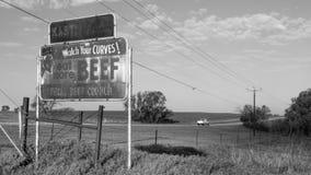 Route 66 : Kastl cultive le signe, le Yukon, OK image libre de droits