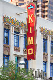 Route 66: Kimo Theatre, Albuquerque, nanómetro fotos de archivo