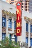 Route 66: Kimo Theatre, Albuquerque, nanômetro fotos de stock