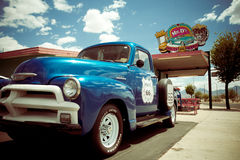 Route 66 Kingman AZ. KINGMAN, AZ - MAY 8, 2014:  Roadside attraction along historic Route 66 in Kingman Arizona Royalty Free Stock Photography