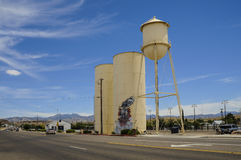 Route 66, Kingman, old water tower, storage tanks Stock Photo