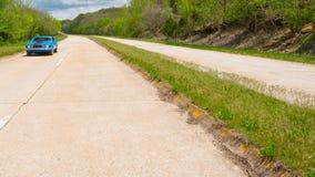 Route 66: Klassisk bil, prostituteradsnitt, Rolla, MO Arkivfoto