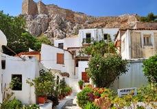 Route à l'Acropole Photo libre de droits