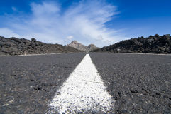 Route à l'EL Teide Photos stock