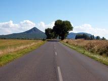 Route la longue et d'enroulement photographie stock