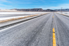Route 50, la route la plus isolée en Amérique Photographie stock