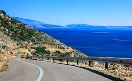 Route langs overzees, bergen Stock Afbeeldingen