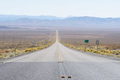 Route 50. The route 50 in Las Vegas also known as 'The loneliest road in America Stock Images