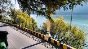 Route latérale de lac Photo libre de droits