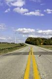 Route latérale de pays américain Photos libres de droits