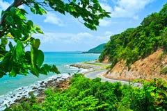 Route le long du bord de la mer Photos libres de droits