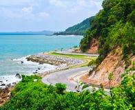 Route le long du bord de la mer Photographie stock