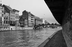 Route le long du fleuve Image libre de droits