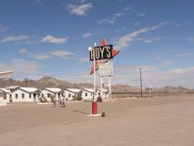 Route 66. Legendary Route 66 - Historic Roy`s Motel Royalty Free Stock Images