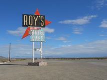 Route 66. Legendary Route 66 - Historic Roy`s Motel Royalty Free Stock Photo
