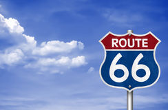 Route 66. Legendary Route 66 - road sign Royalty Free Stock Photo