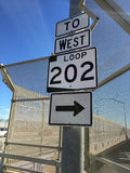 Route 202 Loop in Chandler Arizona going West. Stock Photography