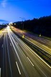 Route, lumières et ciel 2 Photos stock