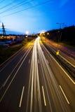 Route, lumières et ciel 3 photos libres de droits