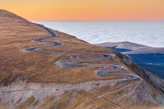 Route 2145m de Transalpina Photographie stock