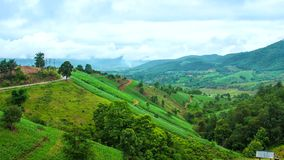 Route Maejam de colline de laps de temps banque de vidéos