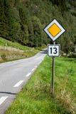 Route malheureuse ou chanceuse Photos libres de droits