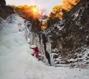 Route Manyavsky icefall Stock Image