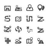 Route map icon set, vector eps10 Stock Photography